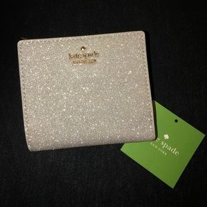 kate spade sparkly adalyn wallet NEW